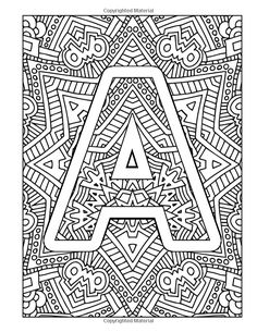 Amazon Color The Alphabet An A Z Coloring Book For Adults 9781530986842