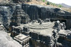 Ellora is an archaeological site, 29 km North-West of the city of Aurangabad in the Indian state of Maharashtra built by the Rashtrakuta dynasty. It is also known as Elapura. Well known for its monumental caves, Ellora is a World Heritage Site.