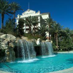 http://www.vegas-venues.com - JW Marriott Resort & Spa Las Vegas Pool waterfall