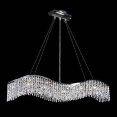 Contemporary 5 Lights Crystal Chandeliers Pendant Lighting For Foyer Bar Counter Dining Room
