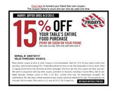 44 Best TGI Fridays coupons images in 2014 | Printable coupons