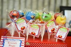 Sesame Street cake pops #sesamestreet #cakepops