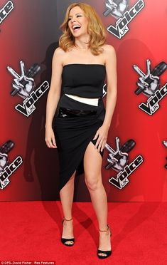 Kylie Minogue in Alexandre Vauthier at the launch of The Voice UK.
