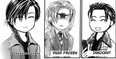"""hahahahaha this chapter was gold!! The innocent guy says Kyouko is pretty hot and asks for her contacts. Ren just smiles """"the smile"""". Yashiro freezes over coz he knows the poor sucker could be offed any moment! Hahaha Ren! Love him! Skip Beat!"""