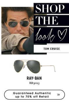 Sunglasses Have a perfect look with Ray-Ban Aviator Large Metal Sunglasses - GOLD Choose from Ray-Ban collections for variety of authentic Sunglasses Cruise Wear, Tom Cruise, Gold Sunglasses, Ray Ban Sunglasses, Ray Ban Rb3025, Ray Ban Men, Mans World, Awesome, Amazing