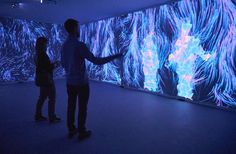 Ku-Flex's reactive projection installation is like seeing your own reflection by way of quantum physics.