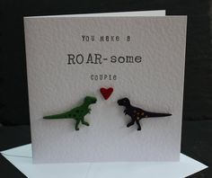 Wedding Card Anniversary Card Engagement Card  by DottyRainbows