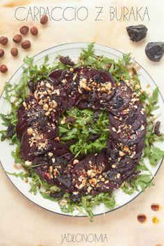 jadłonomia • roślinne przepisy: Świąteczne carpaccio z buraka