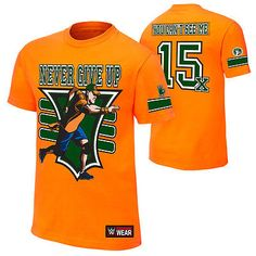 John Cena Orange 15x WWE Authentic Mens T-shirt
