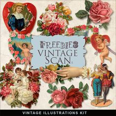 Freebies Vintage Valentines Vignettes
