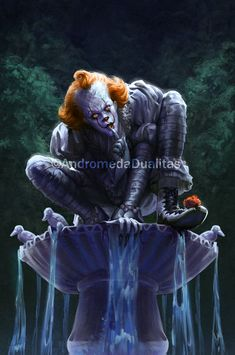 pennywise the dancing clown Pennywise Film, Pennywise The Dancing Clown, Scary Movies, Horror Movies, Bill Skarsgard Pennywise, Scary Wallpaper, Horror Artwork, Funny Horror, Horror Monsters