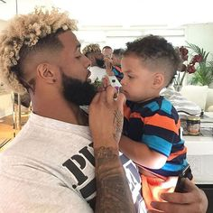 "82 Likes, 1 Comments - Odell Beckham Jr FANPAGE (@objrdaily) on Instagram: ""Awwwn Sonny got a hair cut #odellbeckhamjr #obj"""