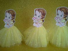 Enfeites de mesa Princesas baby 20cm | M&M Lembrancinhas | Elo7