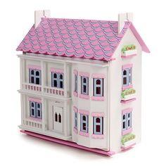 Mamakiddies - Casa delle bambole in legno con mobili e bambole incluse