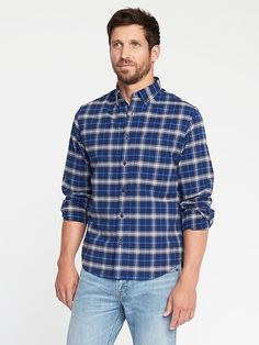 Old Navy Regular-Fit Built-In Flex Oxford Shirt For Men