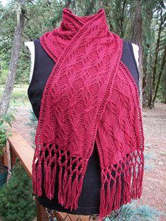 free tree root scarf knit pattern