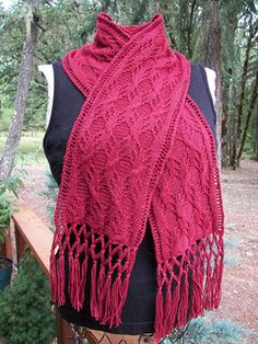 free tree root scarf knit pattern