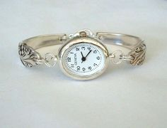 watches made with silverware | Silver Spoon Bracelet Watch Recycled Silverware Jewelry Evening Star ...