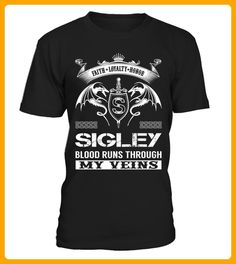 SIGLEY Blood Runs Through My Veins - Shirts für singles (*Partner-Link)