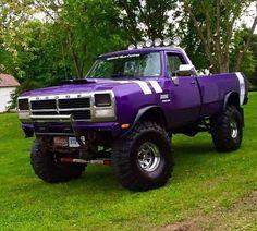 1990 Dodge W , plum crazy Old Dodge Trucks, Dodge Pickup, Dodge Cummins, Ram Trucks, Diesel Trucks, Cool Trucks, Pickup Trucks, Lifted Trucks, Lifted Dodge