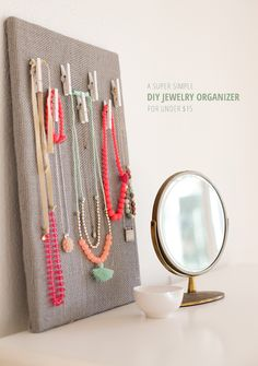 Jewelry Organization Board Tutorial - so easy and inexpensive
