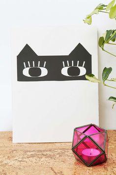 Seventy Tree Cat Bandit Print