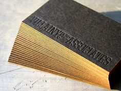 Thick business cards give the impression of strength and longevity. Add edge painting and your card will surely emerge as winner. Here are 15 thick business cards for inspiration. Thick Business Cards, Luxury Business Cards, Letterpress Business Cards, Black Business Card, Unique Business Cards, Business Card Design, Creative Business, Design Graphique, Painting Edges