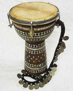 Afghan music instrument Zerbaghali Handtrommel No:17/D - orientart