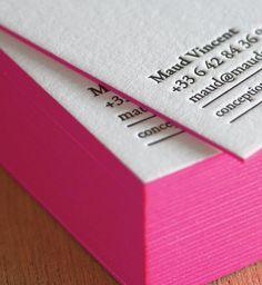 Carte Voeux Visite Letterpress Maud Vincent5 De Design Impression Typographique Typographie