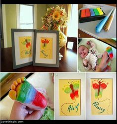 DIY Frame Footprint Art Pictures, Photos, and Images for Facebook, Tumblr, Pinterest, and Twitter