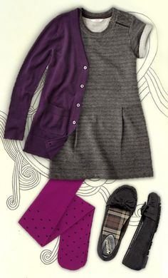 One Stop Style: PLEATS & PURPLE Joe Fresh JCP Kids back to school fashion