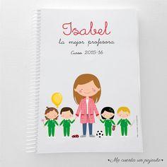 Cuaderno personalizado para regalar a la profesora o el profesor. #cuadernopersonalizado #regaloprofesor #cuadernoprofesora #cuadernoprofesor #papeleriapersonalizada #mecuentaunpajarito