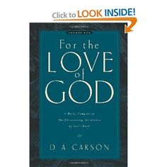 For the Love of God: A Daily Companion  Volume 1 - my birthday wish book for this year!