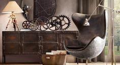 Et si vous osiez une décoration de style industriel? Dit comme ça, on peut s'attendre à des pièces froides, et pourtant... ce style peut donner une impression d'espace et deluminosité à votre intérieur.