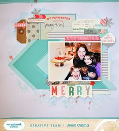 paper C A R D inal: MERRY - Scrapbook Circle December