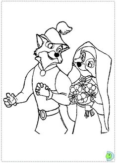 Marry Disney Robin Hood Coloring Pages For Kids
