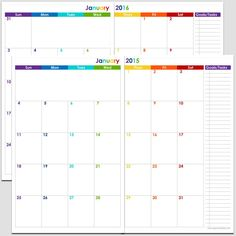 downloadable printable calendar 2015