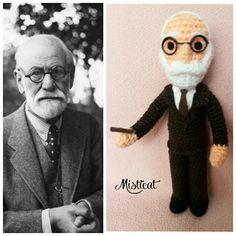 Sigmund Freud amigurumi