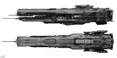SPARTH - Forward Unto Dawn spaceship. Halo 4. Microsoft -...