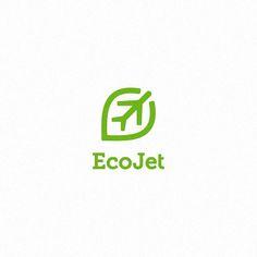 EcoJet logo by Typo Logo, Typographic Logo, Logo Branding, Typography, Branding Ideas, Logo Inspiration, Airport Logo, Logo Simple, Mark Making
