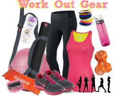 """workout gear"" by strawberryapricotpie ❤ liked on Polyvore"