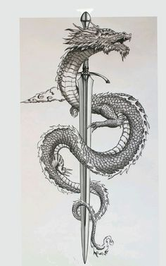 Badass Tattoos, Cute Tattoos, Body Art Tattoos, Small Tattoos, Dragon Tattoo Drawing, Dragon Sleeve Tattoos, Japanese Dragon Tattoos, Japanese Tattoo Art, Asian Dragon Tattoo