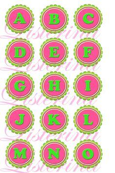 Alphabet bottle cap images Emailed
