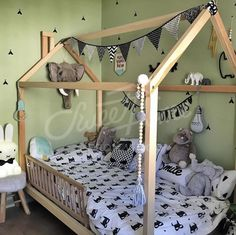 Kids room ideas with superheros and animals accessories, toddler bed, house bed, frame bed, Montessori bed, children bed, nursery bed, nursery crib, baby bed, wood bed, teepee
