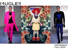 Have you got your Triangle yet? Be protected. Mugler Menswear Fall 2013