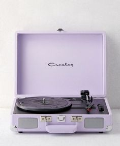 crosley record player UO exclusive on Mercari Violet Aesthetic, Lavender Aesthetic, Aesthetic Colors, Aesthetic Vintage, Aesthetic Pictures, Pastel Purple, Shades Of Purple, Crosley Record Player, Purple Stuff