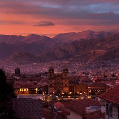 Have a lovely afternoon and the perfect sunset in Cuzco