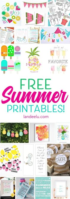 Awesome Summer Printables for that summer bash you're definitely going to throw - and some printables to brighten up your home