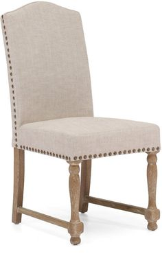 Zuo Modern 98072 Richmond Dining Chair Color Beige Oak Wood Finish - Set of 2