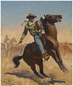 Cowpuncher  Maynard Dixon    Jackson Hole Art Auction